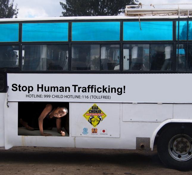 stop human traffic (bus)